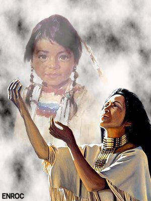 Indiaan en kind
